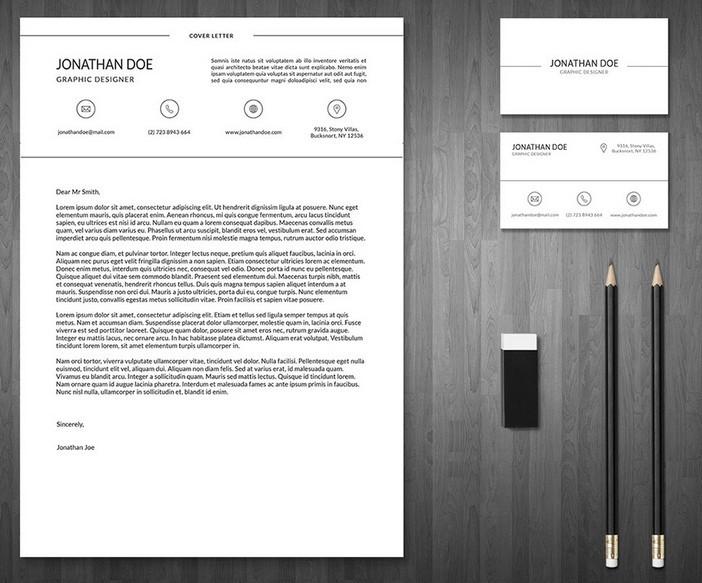 piece resume business card template