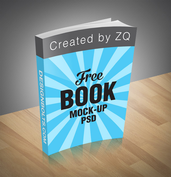 Free Book Mock-up PSD File