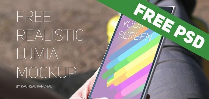 Free Realistic Windows Lumia Mockup