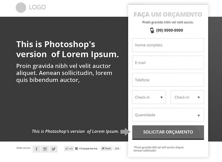 Landing Page - Free PSD Download