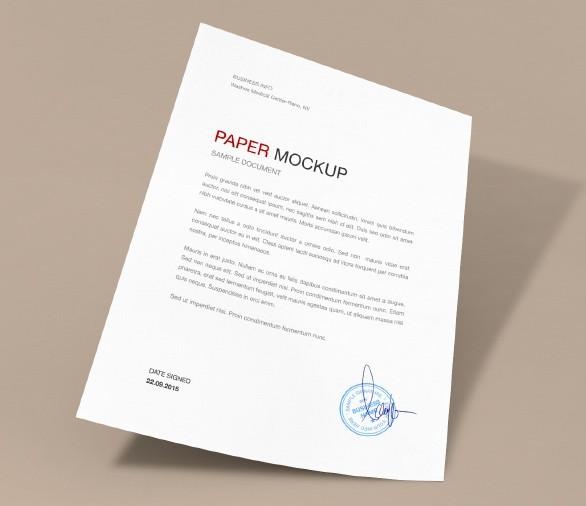 Paper Mockup Set