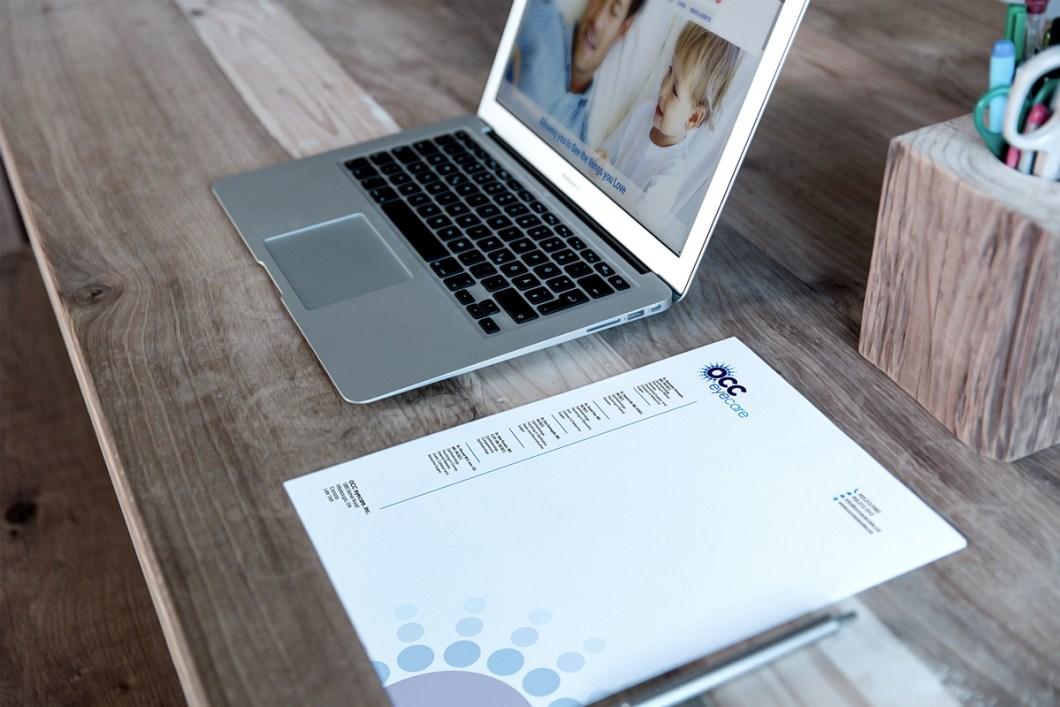 ree Letterhead & Mac Book Mockup
