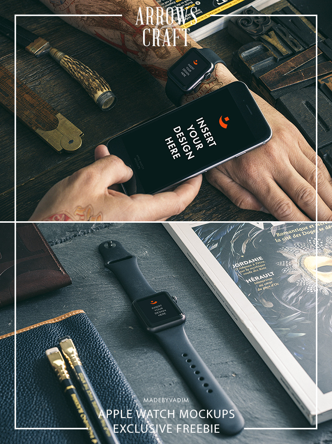 2 Hip Apple Watch Mockups