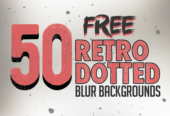 50 Retro Dotted Blurred Backgrounds