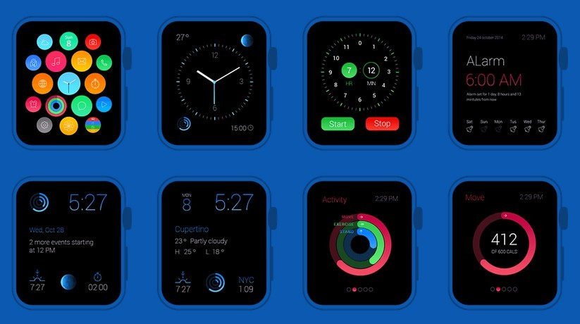 Apple Watch GUI Redesign Screens