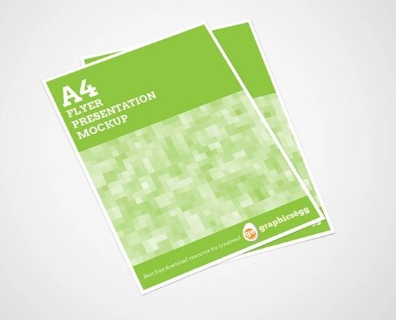 FREE A4 Flyer Mockup PSD