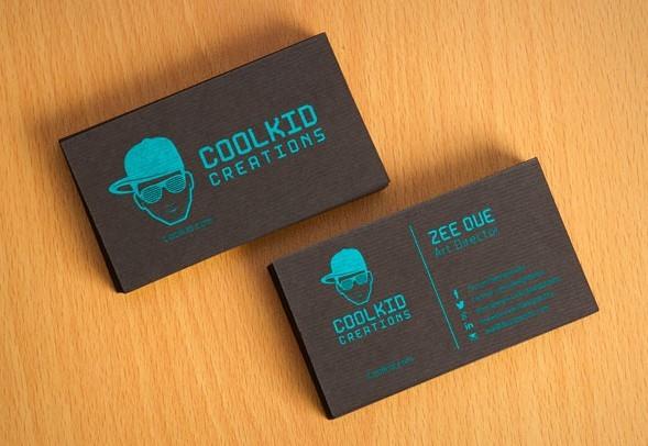 Free Black Textured Business Card Design Template & Mockup PSD