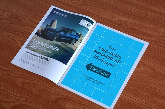 Free High Quality Magazine Ad Mockup PSD