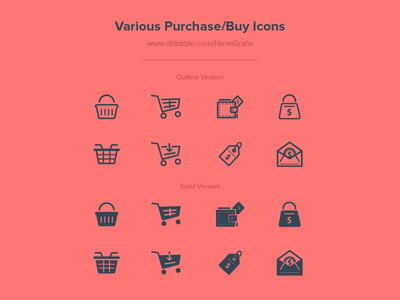 Various Purchase Buy Icons