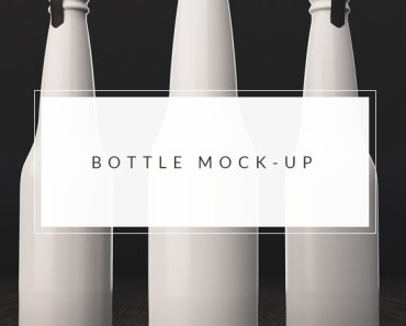 bottle packaging mockup