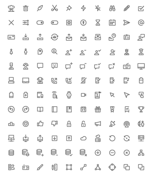 350 Free Icons Material Design Style