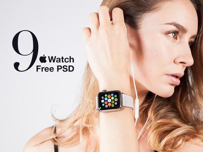 9 Free Apple Watch Mockup