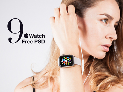 9 Free Apple Watch Mockup