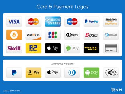 Credit Card & Payment Logos