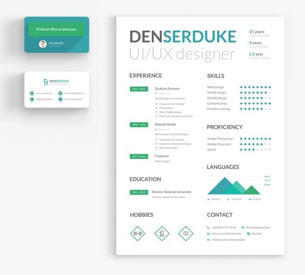 FREE Resume & Business card