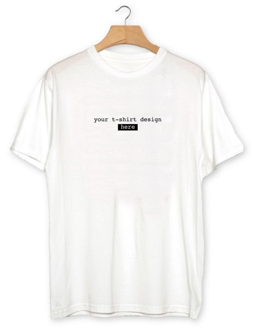 Free Plain White Realistic T-shirt Mockup PSD