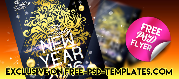 New Year 2016 – Free PSD Flyer Template