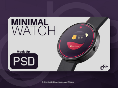 Photorealistic smartwatch mock-up