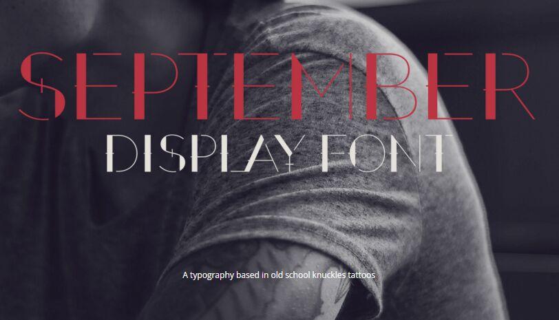 September Display Font