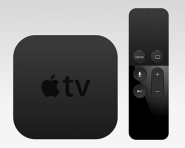 Apple TV and Remote Sketch