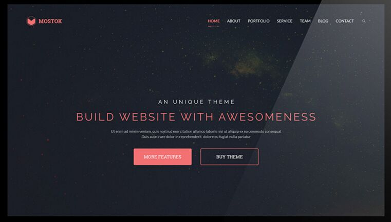 Mostok One Page Agency Template