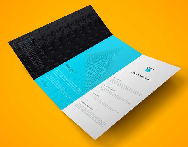 Z Fold Brochure PSD Mockup Vol.2