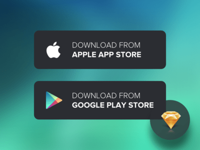Download App Buttons - Sketch Freebie