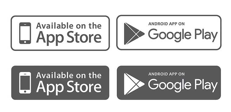 10+ Mobile App Download (App Store, Google Play) Button Templates ...