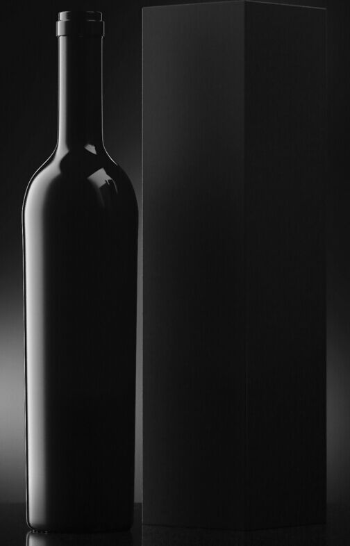 Free Black Wine Bottle Mock-Up