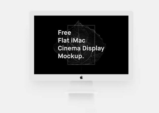 Free Flat iMac Mockup (Cinema Display)