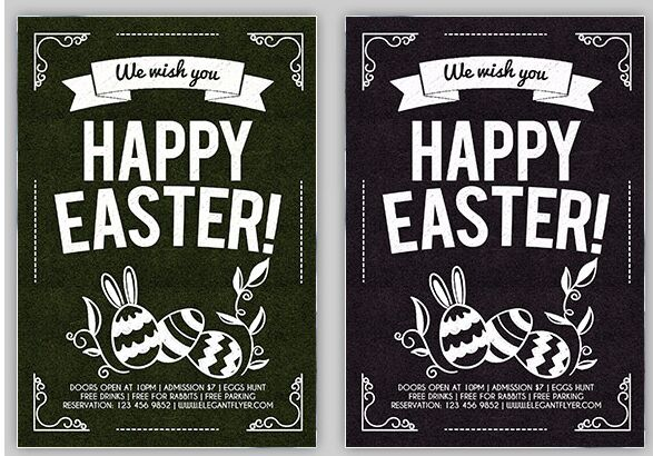 Happy Easter – Flyer PSD Template + Facebook Cover