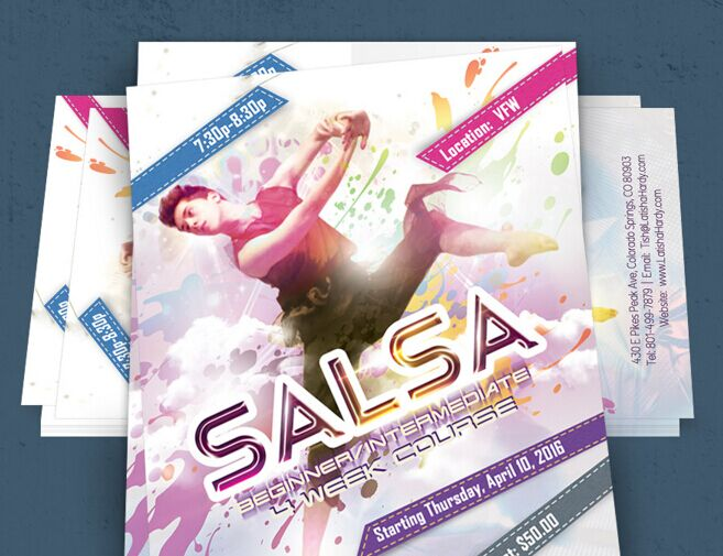Best free dance flyer template psd