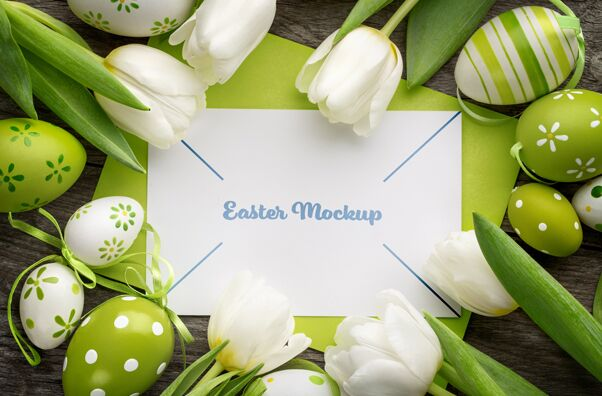 Easter Card PSD Mockup