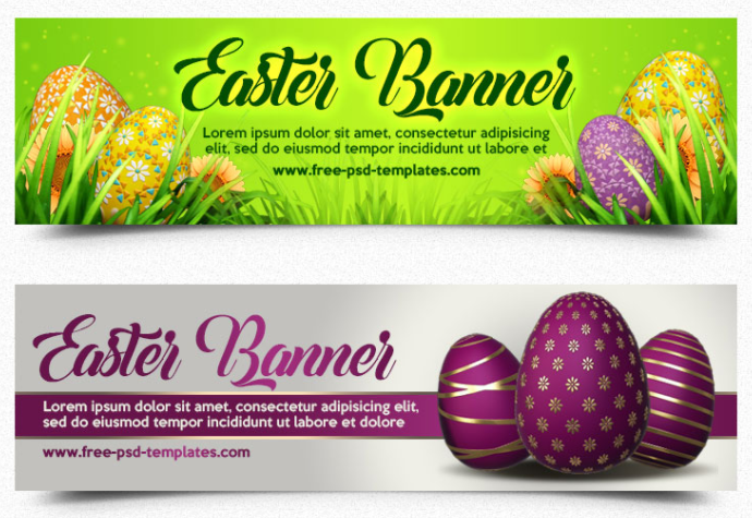 FREE EASTER BANNER IN PSD
