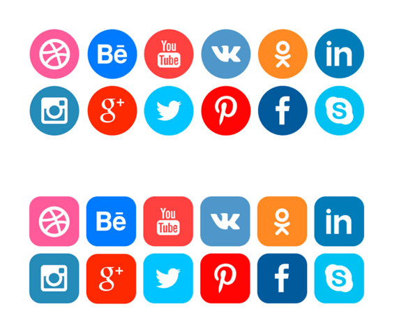 FREE icons of social networks