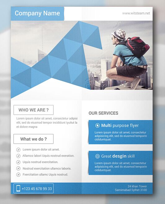 Corporate brochure flyer design layout template in a4 size with bleed - 100 High Quality Free Flyer And Brochure Mock Ups