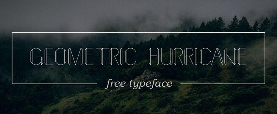 Geometric hurricane - Free font