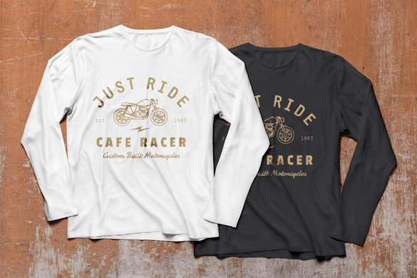 Long Sleeve T-Shirt MockUp PSD