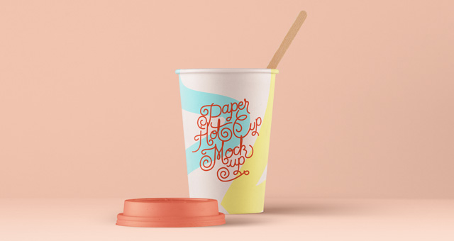 Psd Paper Hot Cup Template Vol4
