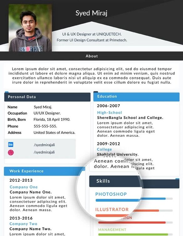 Web Resume Template