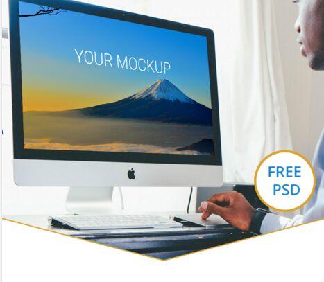 iMac Free PSD Mockup