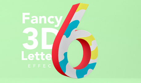 Fancy 3D Letter Psd Text Effect