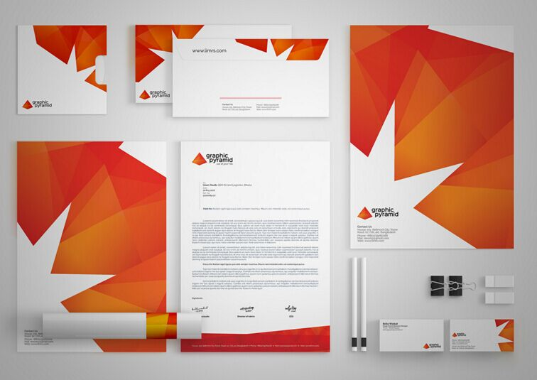 Graphic Pyramid Identity Template