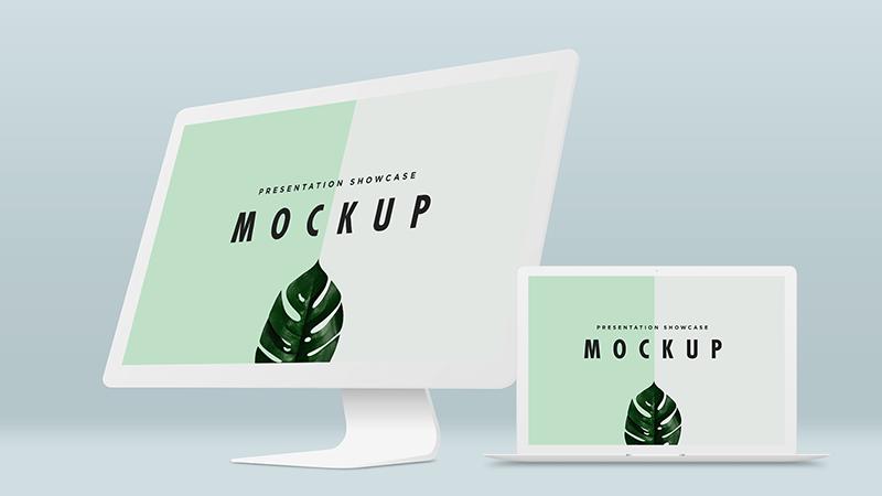 Macbook Pro & iMac Mockup Template