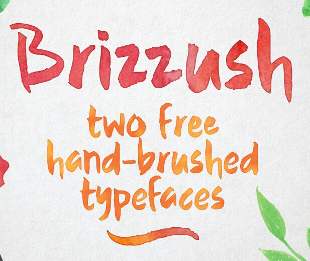 Brizzush - a pair of free hand-brushed typefaces
