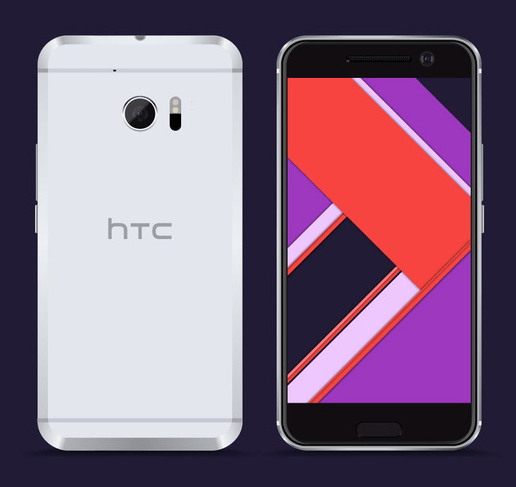 Free Vector HTC 10 Model