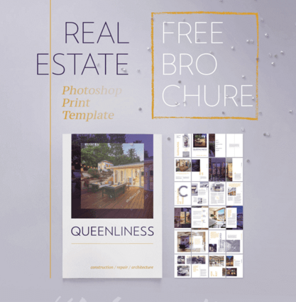 Queenliness – Free Real Estate Brochure Template