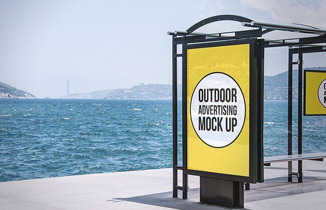 2 Outdoor Advertising Mock-Ups