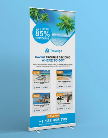 FREE Travel Roll-up Banner