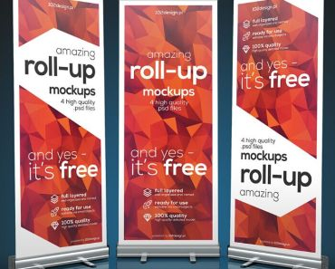 Free PSD - Roll-up mockup